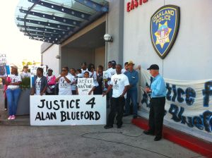 Dan Siegel speaking out against the injustices surrounding Alan Blueford's murder by OPD officer Miguel Masso.