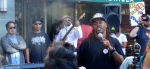 Onyx Organizing Committee's Ghetto Prophet breakin it down via spoken word for The People. ALL POWER TO THE PEOPLE! — with Michael Walker Jr. at Stop Urban Shield Oakland: RALLY @ MARRIOTT!