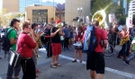 Brass Liberation Orchestra — with Lauren Montana Swiger at Stop Urban Shield Oakland: RALLY @ MARRIOTT!