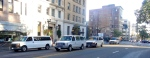 "These 15 passenger vans full of cops are staged all over downtown just waiting for us to ""riot""...or something.... — at Stop Urban Shield Oakland: RALLY @ MARRIOTT!"